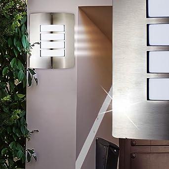 LED exterior lámpara 9,5 vatios de acero inoxidable lámpara de pared terraza iluminación Eek A
