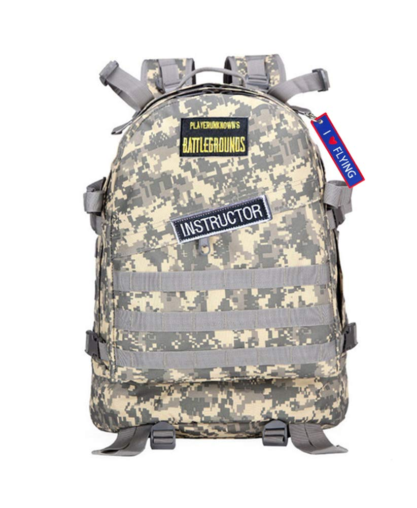 248673ac5a WYCY PUBG Level 3 Bag Unknown's Battlegrounds Backpack Winner Winner  Chicken Dinner Desert Camo Cosplay Backpack Outdoor Bag (ACU):  Amazon.co.uk: Sports & ...