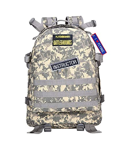 Amazon.com : WYCY PUBG Level 3 Backpack ACU Desert Camo Cosplay Backpack Outdoor Bag(with Gift Pendant) (ACU) : Sports & Outdoors