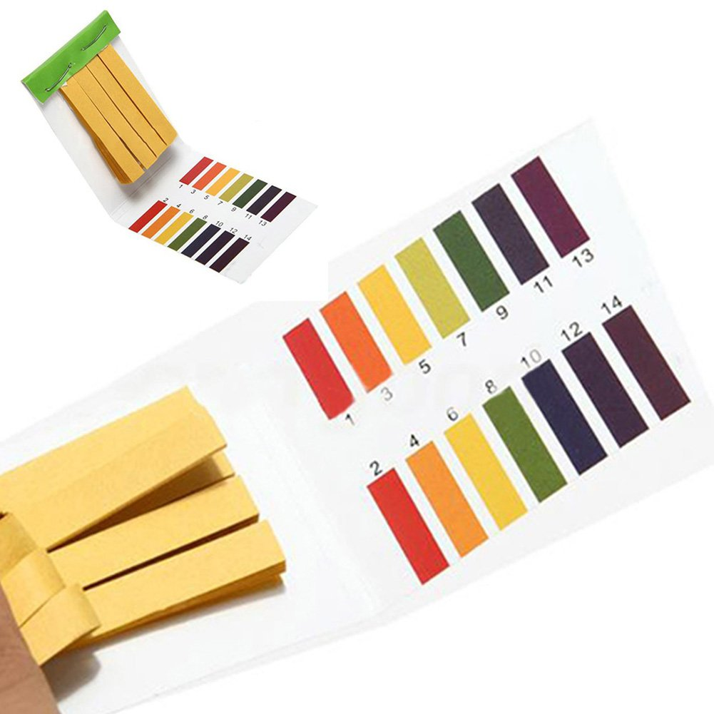 Full Range 80 Strips 1-14 PH Test Paper Litmus Indicator Paper Alkaline Acid Full Range for Testing Saliva Urine Fish Tank Swimming Pool