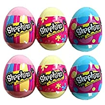 Set of 6: Shopkins Season 4 Surprise Pastel Eggs - Pink, Blue and Yellow