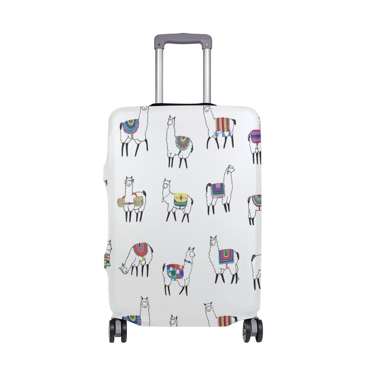 Cute Vintage Lambs Black White Suitcase Luggage Cover Protector for Travel Kids Men Women