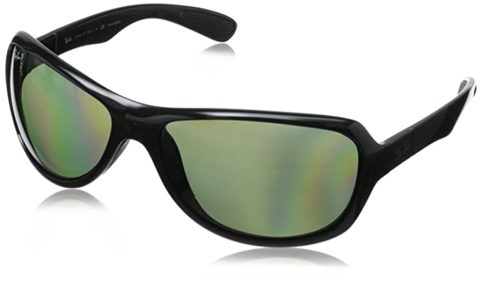 Amazon.com: Ray-Ban 0rb4189 polarizadas Wrap anteojos de sol ...