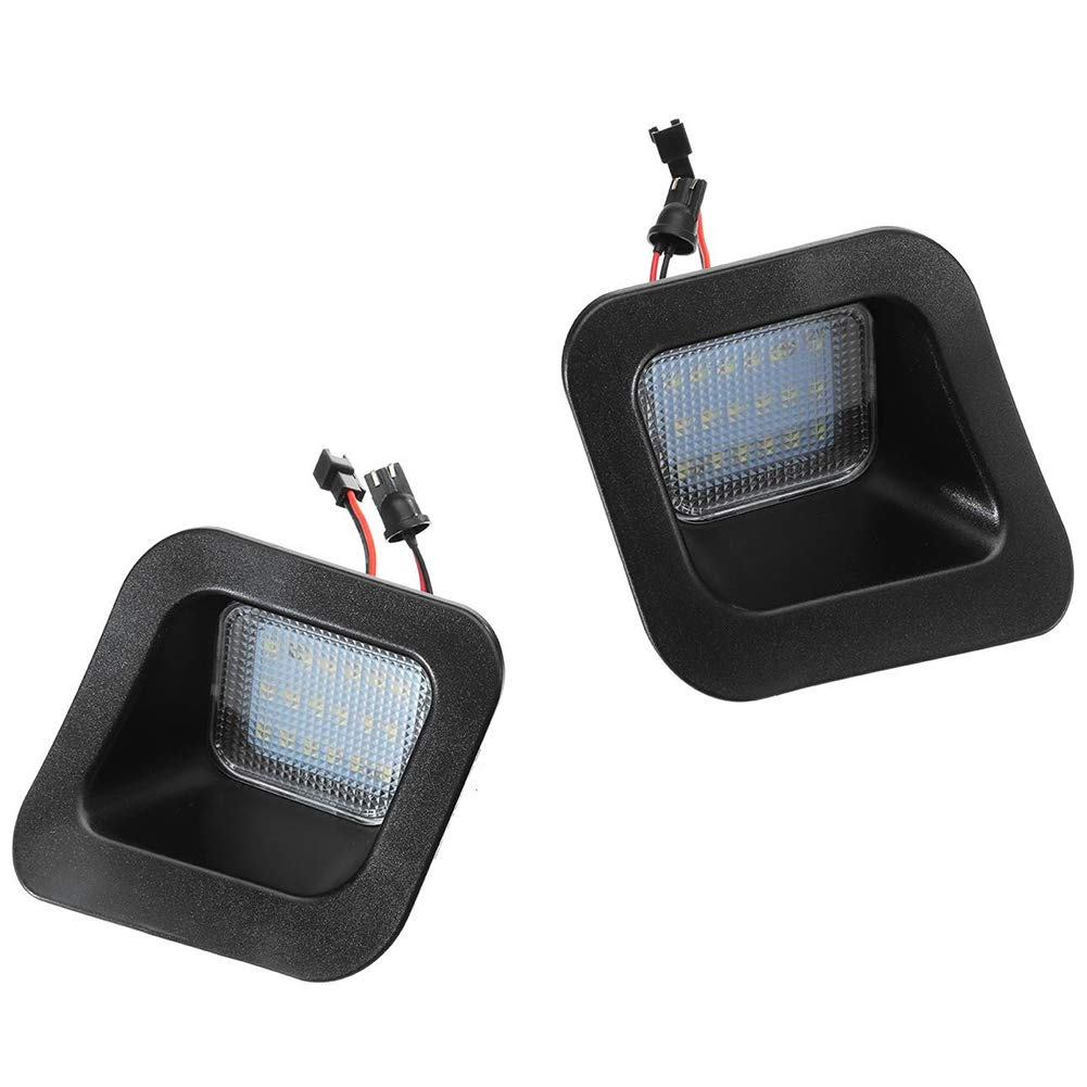 Tamkyo Pair Led Car License Number Plate Lights For Ram 1500 2500 3500 2003-2015 Auto White Illumination Licence Plate Light