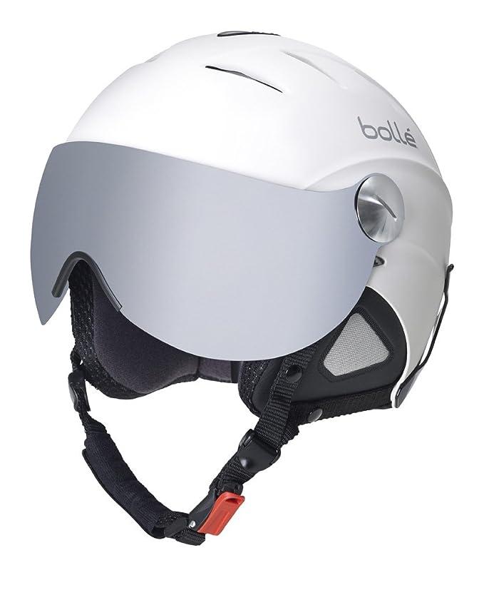 Bollé - Casco de esquí con visera blanco blanco Talla:56 cm: Amazon.es: Ropa y accesorios