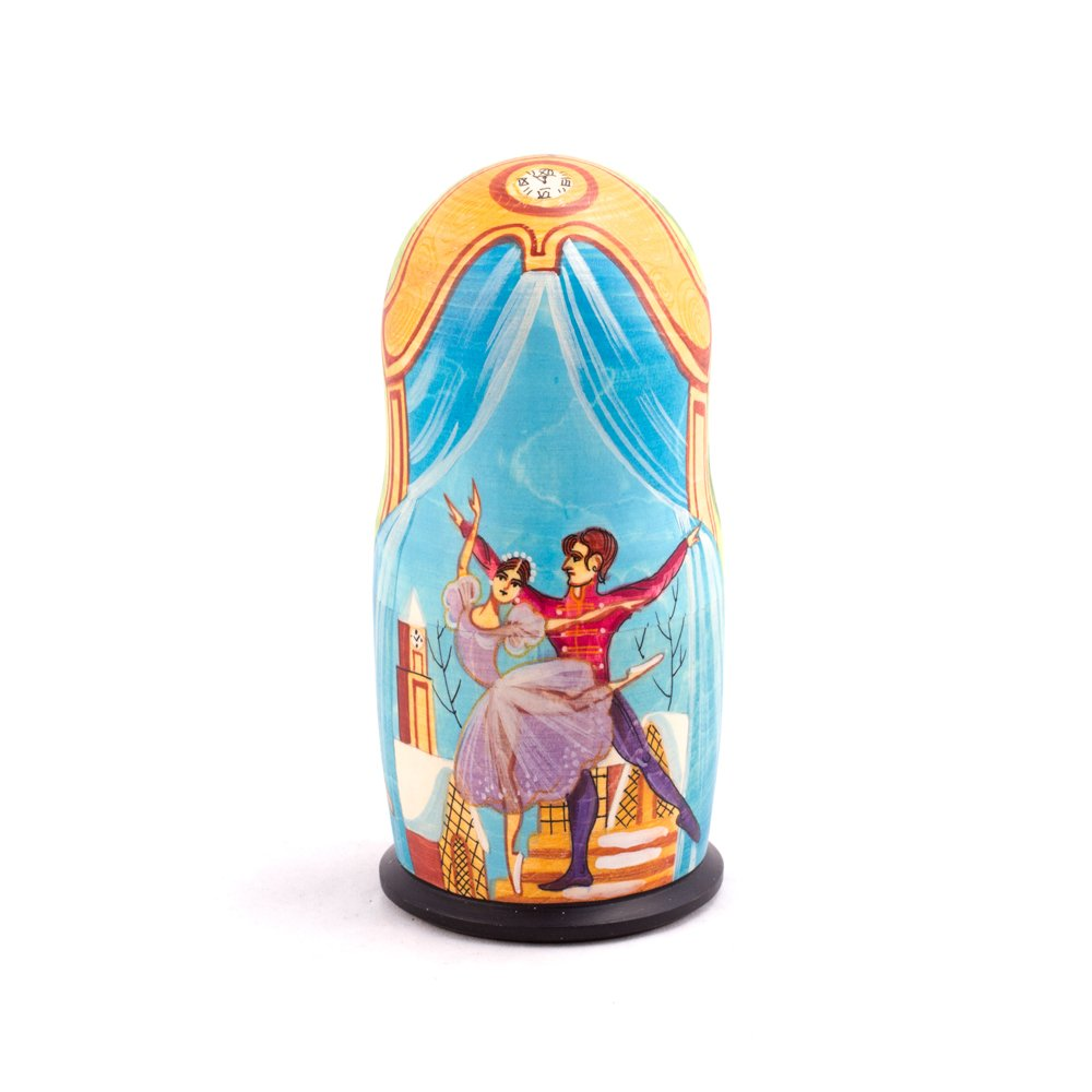 Books.And.More Nutcracker Ballet Nesting Dolls Set 5pcs Matryoshka Dolls by Books.And.More (Image #3)
