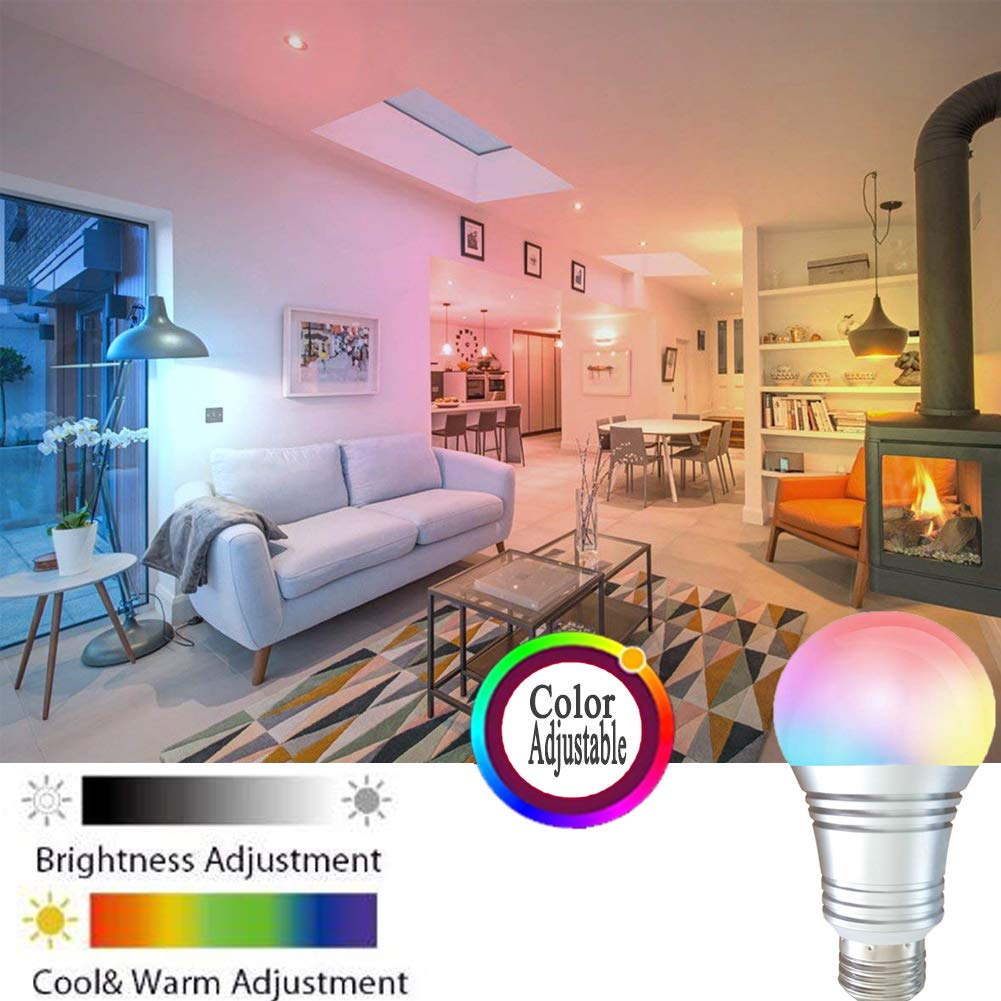SUPERMI Smart Bulb 7W,Smart LED 60W Equivalent Dimmable E27,Smart Light Multicolored,WiFi Smart LED Light Bulbs No Hub Required, Compatible with Alexa Google Home IFTTT 2Packs