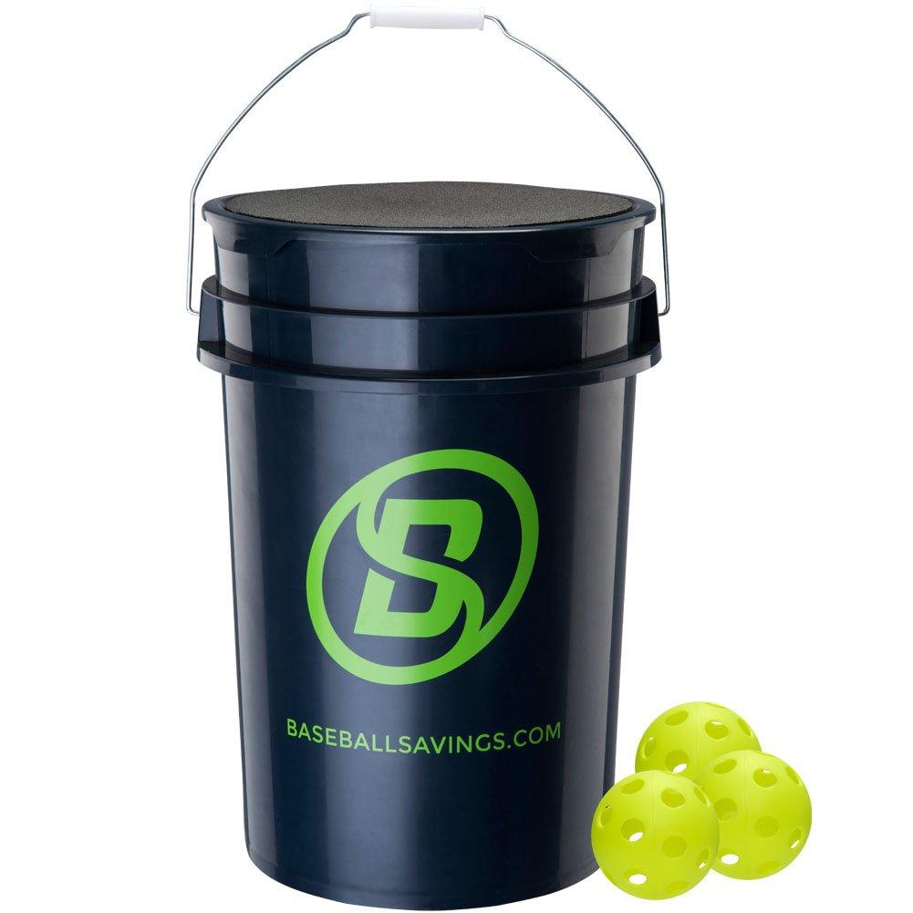 baseball-softball Savings野球SavingsバケットW/ソフトボールWiffles Navy B07814NZWX