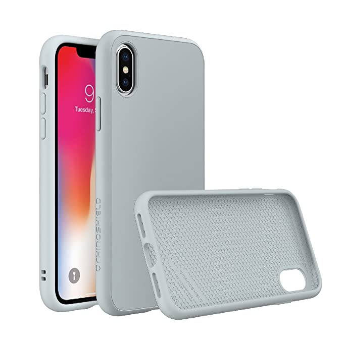 best website b1222 be80b RhinoShield Case for iPhone X [SolidSuit] by Shock Absorbent Slim Design  Protective Cover with Premium Matte Finish [3.5M / 11ft Drop Protection] -  ...