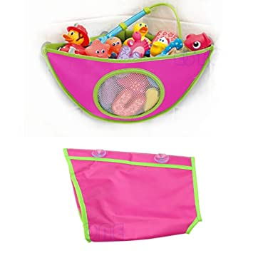 Techinal Baby Kids Bath Tub Waterproof Toy Hanging Storage Triangle Bag Organizer Holder Toy Hammock  sc 1 st  Amazon.com & Amazon.com: Techinal Baby Kids Bath Tub Waterproof Toy Hanging ...
