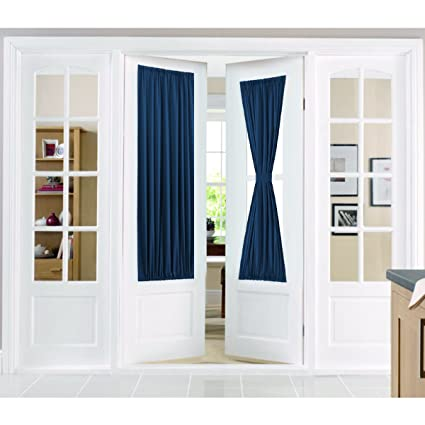 Amazon Flamingo P Privacy French Door Curtains With Tieback