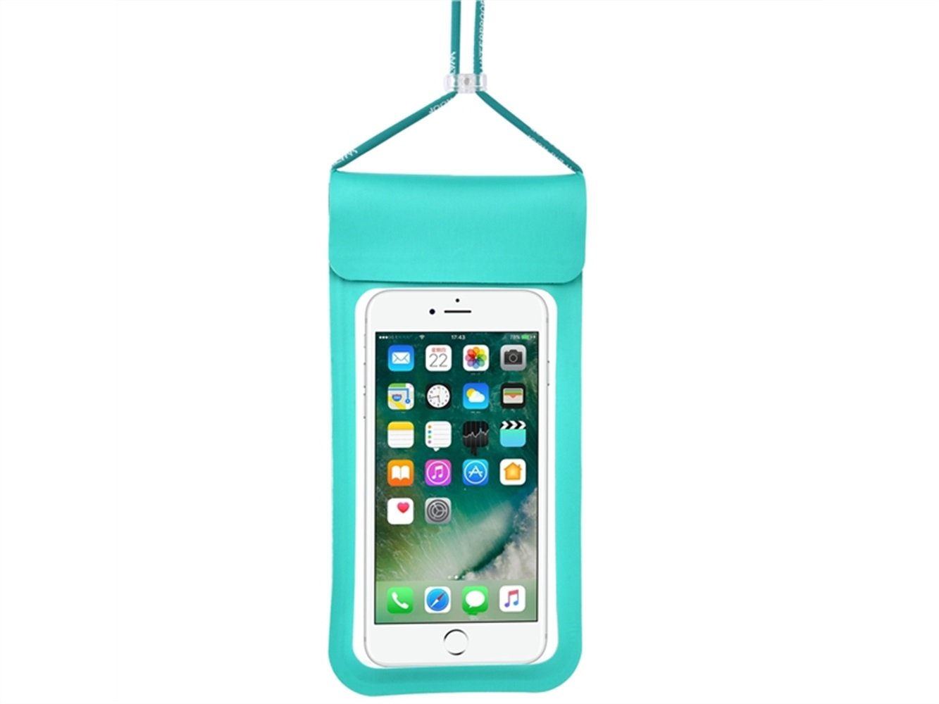 Wesource Good Protecter Portable Lanyard Waterproof Phone Bag Outdoor Beach Mobile Diving Bag for All Smartphones Up To 6.5 Inch(Blue)