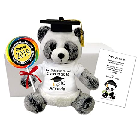 12368764 Amazon.com: Mandy's Moon Personalized Gifts Graduation Panda Gift Set - 11  inch Ping Panda, Class of 2019 Grad Gift: Toys & Games