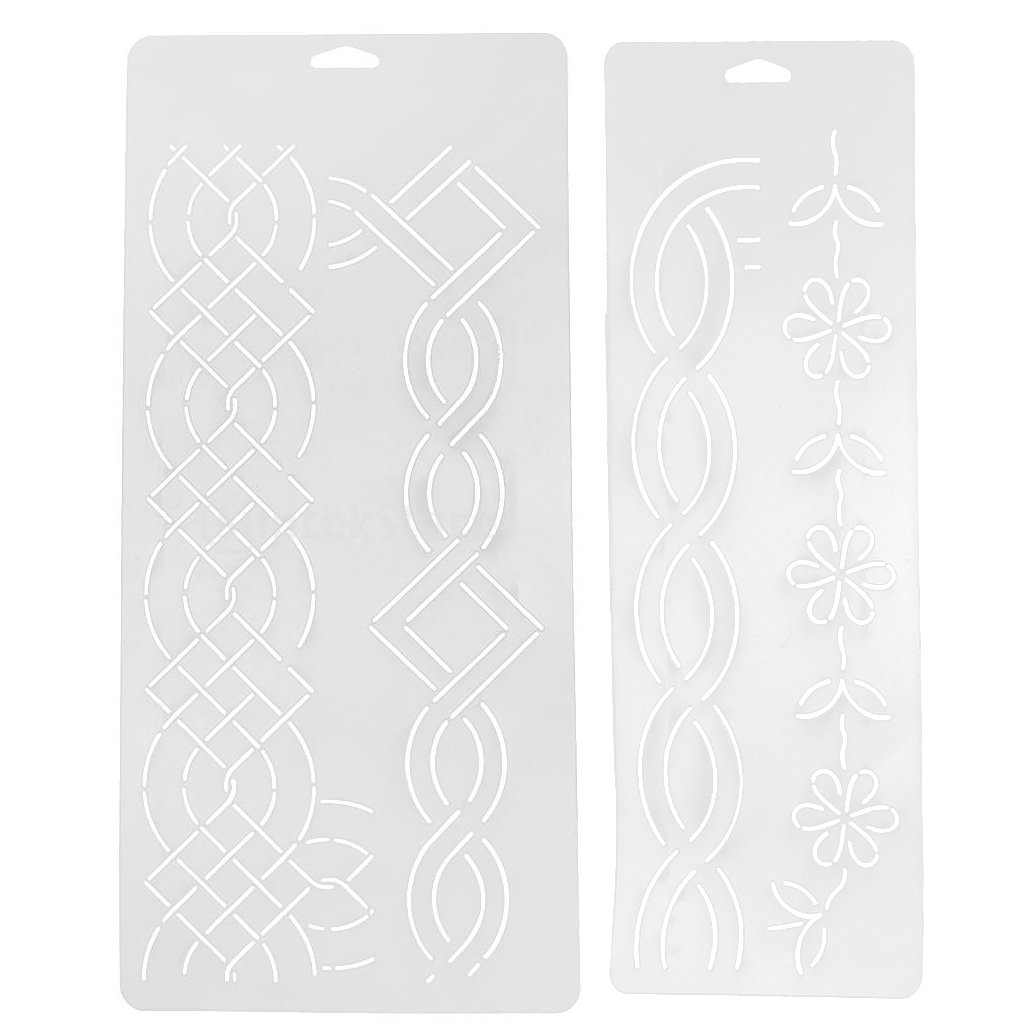 MagiDeal 2Pcs Plastic Quilting Quilt Stencil Painting Craft Template Sewing Tools