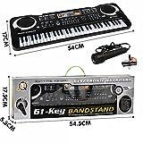 Children Adults 61 Key Portable Electronic Keyboard,Electric Music Keyboards Piano, Melody 61 Beginner Bundle w/ adaptor Microphone