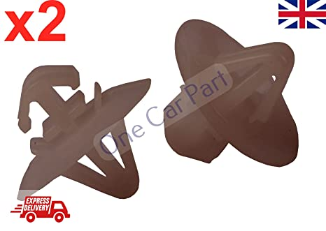 Vivaro - Juego de 2 clips de plástico para molduras laterales, protección inferior