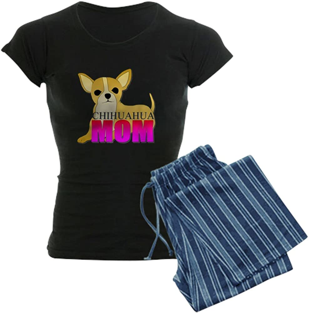 CafePress Chihuahua Mom Womens Dark Pajamas Womens PJs