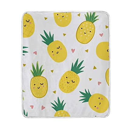 Brilliant Amazon Com Cute Pineapples Throw Blanket Bed Couch Chair Creativecarmelina Interior Chair Design Creativecarmelinacom