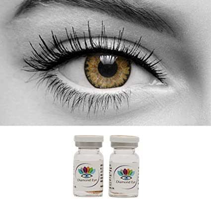 d4cad873b8d Buy Diamond Eye Yearly HAZEL Colored Contact Lenses 0 Power Online at Low  Prices in India - Amazon.in