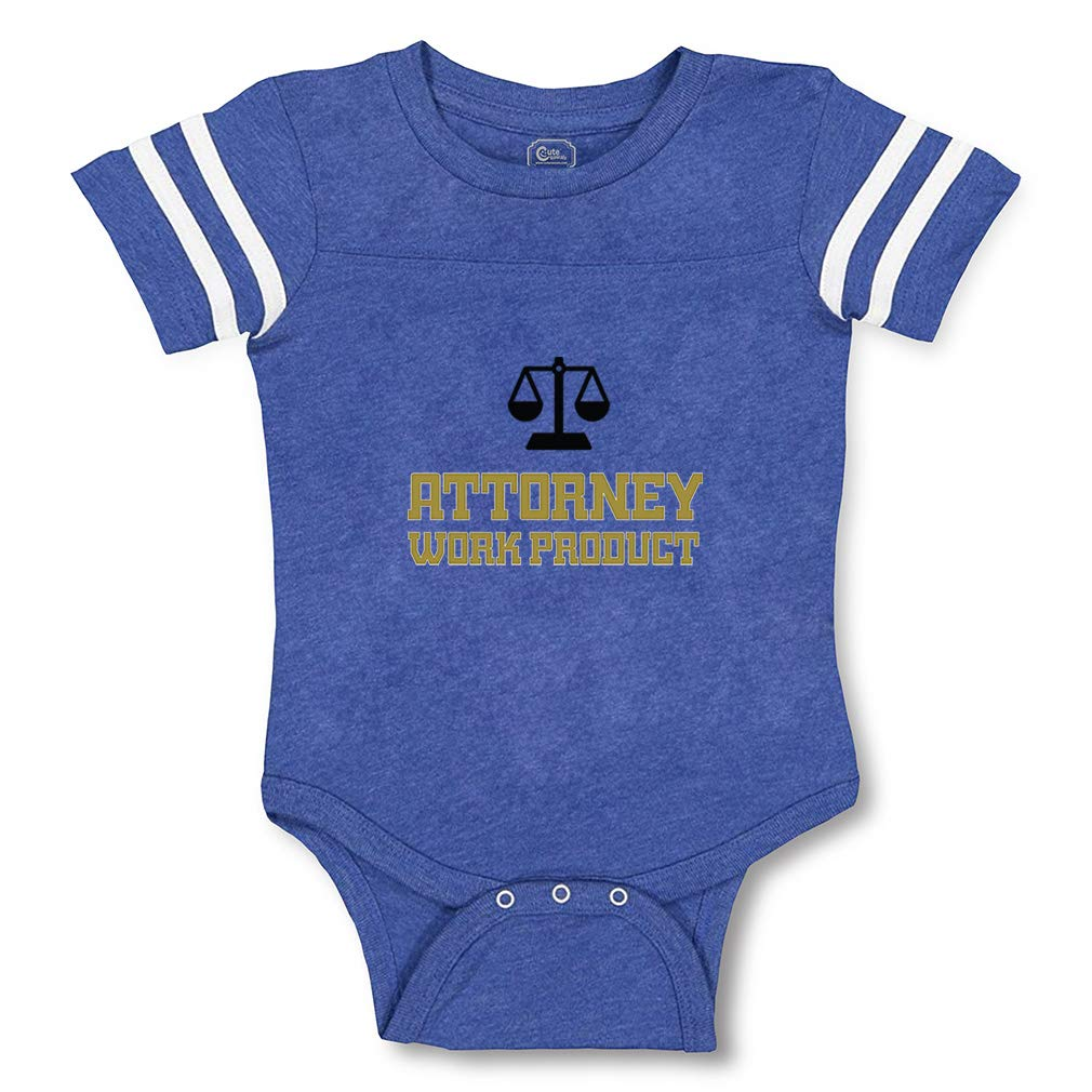 Baby Bodysuit Attorney Work Product Baby Clothes for Infant Boys and Girls