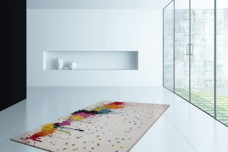 One Couture Teppich FLACHFLOR TEPPICHE Soft GLANZGARN Splash Style BUNT Multi Angebot, Größe 120cm x 170cm