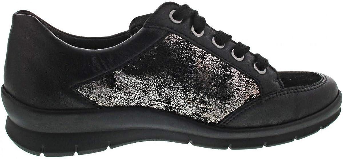 Semler 755062 Chaussures de nuisier pour femme Soft-N/MET-VEL/S-CHEV X2125709/808 (Noir) Noir Multi