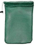 """Mesh Stuff Bag - 11"""" x 15"""" - Durable Mesh Bag with Sliding Drawstring Cord Lock Closure. Great for Washing Delicates, Rinsing Beach Toys, Seashell Collecting or Scout Mess Bags. (Green)"""