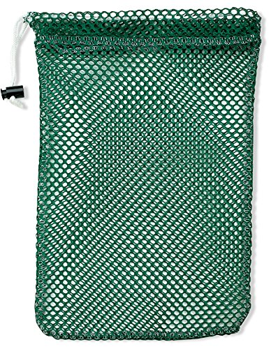 Handy Laundry Mesh Stuff Bag - 11 x 15 - Durable Mesh Bag with Sliding Drawstring Cord Lock Closure. Great for Washing Delicates, Rinsing Beach Toys, Seashell Collecting or Scout Mess Bags. (Green)
