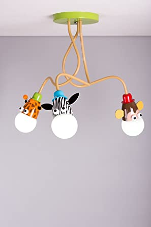 Lámpara de techo, dormitorio, luces para niños, con Jirafa ...