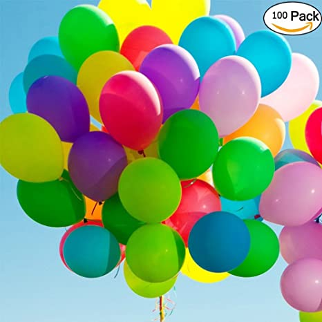 Vohoney Ballons De Mariage Ballons Multicolores Assortiment De Ballons 100 Ballons Anniversaire Ballons Colores Pour Fête Anniversaire Ballon