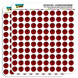 Red Rose 1/2' (0.5') Planner Calendar Scrapbooking Crafting Stickers - Opaque