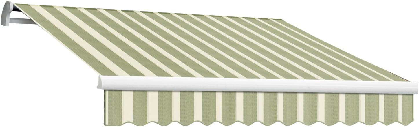 Awntech 16-Feet Maui-LX Manual Retractable Acrylic Awning, 120-Inch Projection, Sage Cream