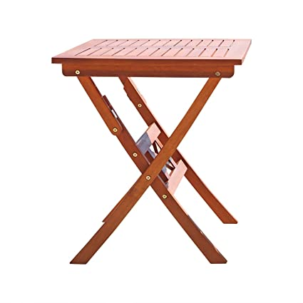 Etonnant Vifah V03 Outdoor Wood Folding Bistro Table,Natural Wood Finish, 24 By 24 By