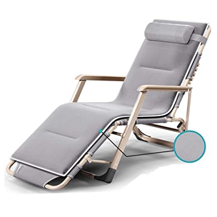 Amazon.com: XEWNEG Deck Chair Lounge Chair, Folding Chair ...