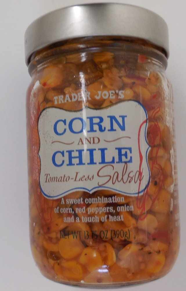 Trader Joes Corn and Chile Tomato-less Salsa 2/pack