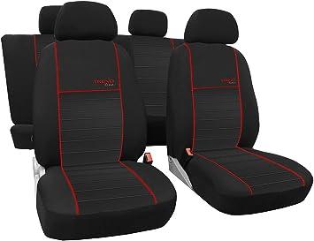 Autositzbezüge Schonbezüge Trend Line Passend Für Seat Ibiza Universal Stoffsitzbezug Zum Sonderpreis In Diesem Angebot Rot Auto