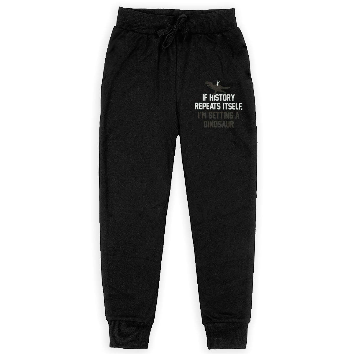 Getting A Dinosaur Boys Sweatpants,Joggers Sport Training Pants Trousers Black