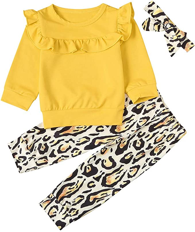 UK Leopard Print Toddler Kids Baby Girl Long Sleeve Party Dress Casual Clothes