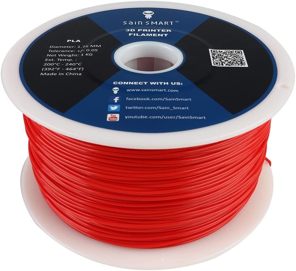 SainSmart PLA-151 PLA Filament (Red) on tube assembly, tube terminals, tube fuses, tube dimensions,
