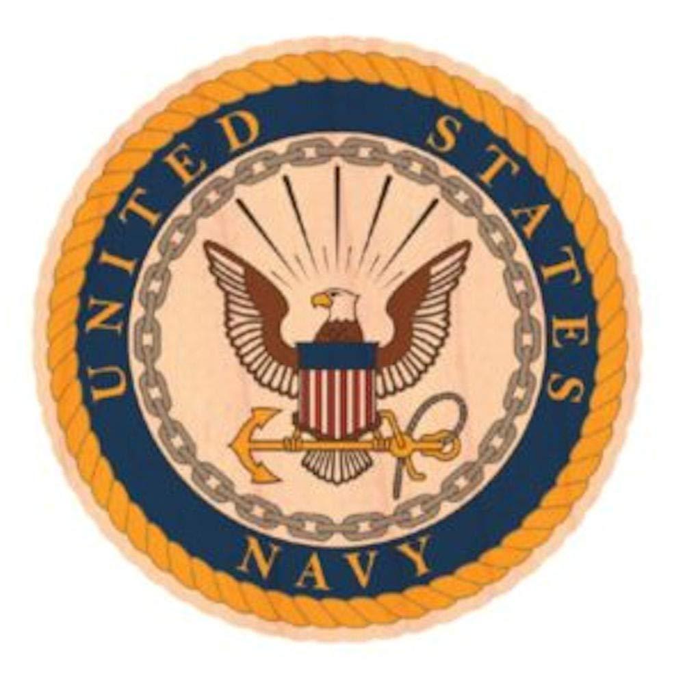 Mitchell Proffitt U.S Navy Crest Wooden Sticker WoodSticker