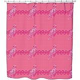 Uneekee Pinky Paisley Shower Curtain: Large Waterproof Luxurious Bathroom Design Woven Fabric