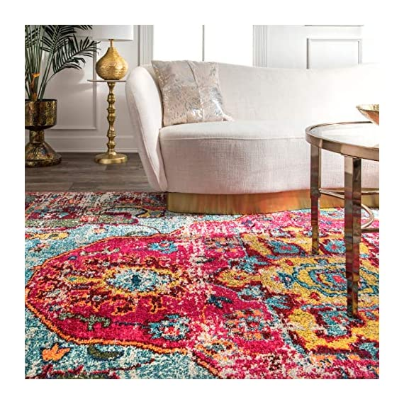 "nuLOOM Corbett Vintage Boho Runner Rug, 2' 6"" x 8', Multi - Made in Turkey PREMIUM MATERIAL: Crafted of durable synthetic fibers, it has soft texture and is easy to clean SLEEK LOOK: Doesn't obstruct doorways and brings elegance to any space - runner-rugs, entryway-furniture-decor, entryway-laundry-room - 61253w8j4 L. SS570  -"