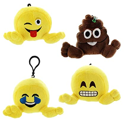 Amazon.com: Plushi Palz - Juego de emoticonos de 4.0 in ...