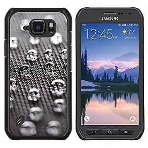 """Be-Star Único Patrón Plástico Duro Fundas Cover Cubre Hard Case Cover Para Samsung Galaxy S6 active / SM-G890 (NOT S6) ( Gotas de agua"""" )"""