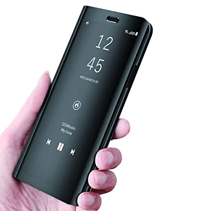 buy popular 3d5b5 b7dc2 Galaxy S9 Plus Case S-View Mirror Flip Cover for Samsung Galaxy S9 Plus