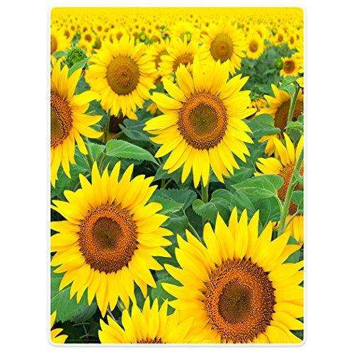 Blankets Fleece Blanket Throw for Sofa Bed Yellow Sunflowers 60