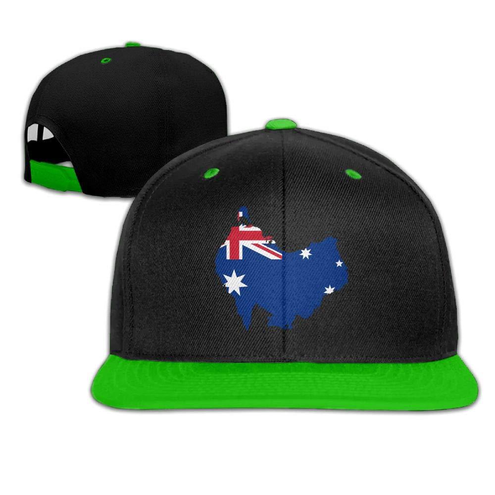 Tailing Australia Flag Map Unisex Hip-hop Hats Snapback Hat Solid Flat Cap