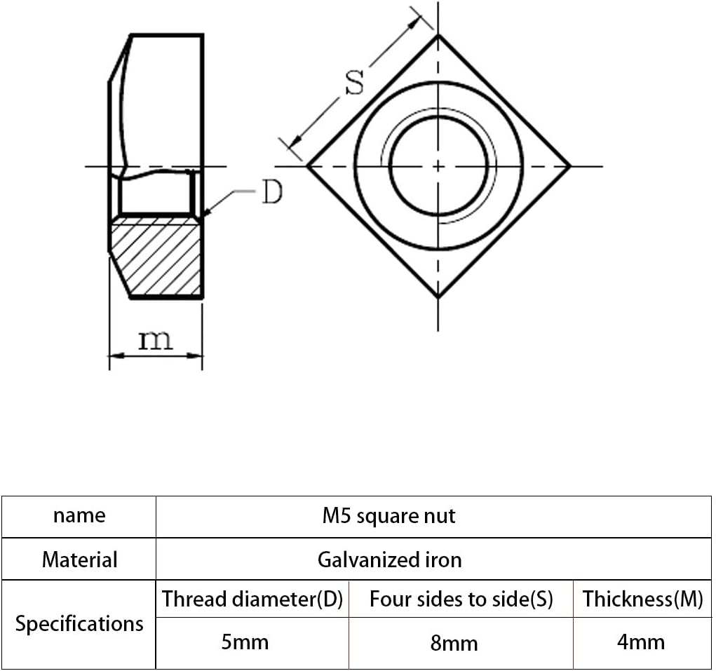 Pack of 10 02-3459-861 J-Bolt Wing Hook Nut 0.312 x 3 in