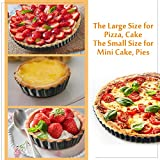 9 Inch and 4 Inch 5 Pack Tart Pan Removable Bottom