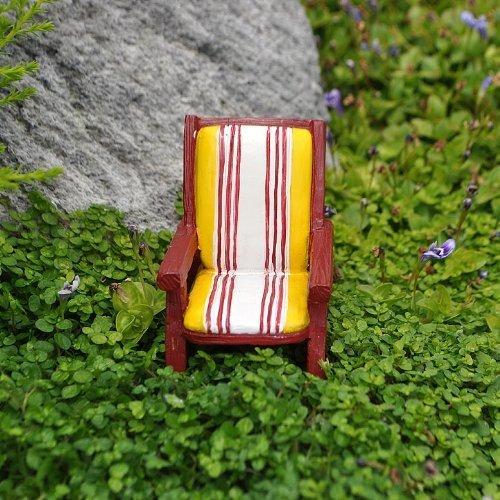 Miniature Fairy Garden Yellow Striped Chair